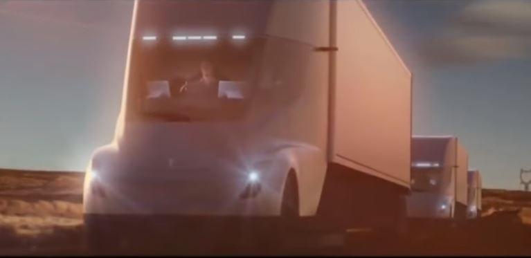 Tesla Semi является первым грузовиком полностью на электротяге
