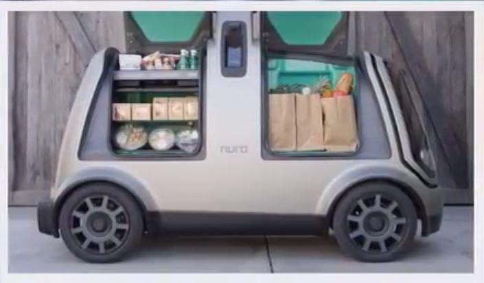 Автономный автомобиль для доставки товаров от бывших инженеров Google