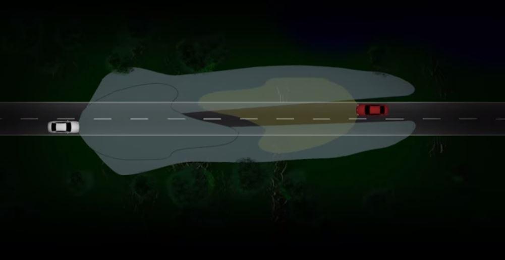 Адаптивные автомобильные фары избаляют водителей от постоянных переключений ближнего и дальнего света