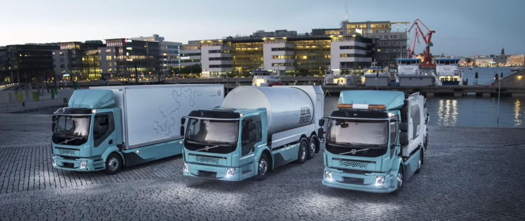 Создание гибридных грузовиков способных работать как на чистом топливе так и на электрической энергии сможет снизить выбросы в атмосферу