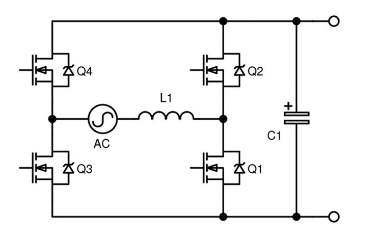 Ступень коррекции коэффициента мощности «тотемный столб» может быть сконфигурирована как инвертор