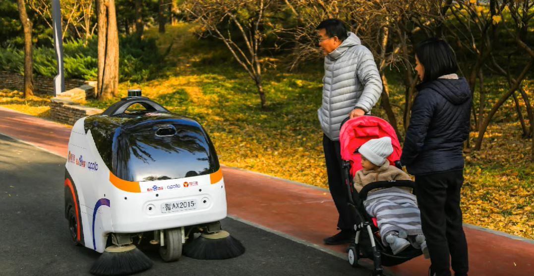Новый полностью автономная машина Idriverplus для уборки улиц