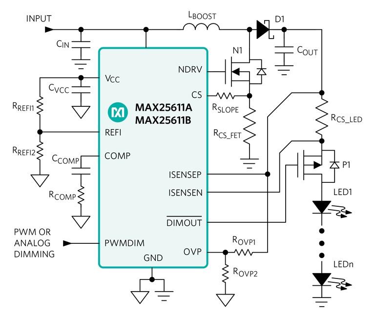 Одноканальный светодиодный драйвер HB используется для автомобильных фар и других сигнальных огней