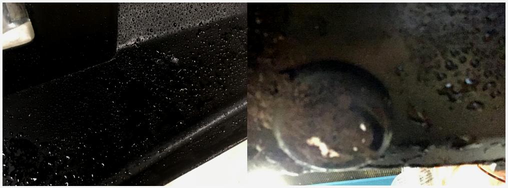 Вода на емкостном датчике и грязь на ультразвуковом датчике автомобиля