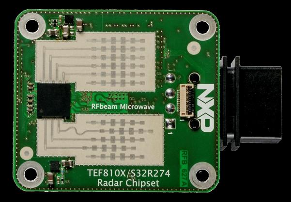 Радарные приемопередатчики / датчики мигрируют на частоту 77 ГГц благодаря устройствам,  доступным от многих поставщиков, в виде микросхем или в виде полнофункциональных модулей,  приведенных на данном рисунке