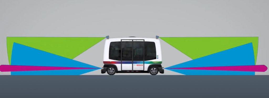 Автономный автобус Bosch способен продолжать движение даже при поломке нескольких датчиков