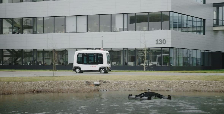 Автономный шаттл Bosch способен перевозить пассажиров без водителя