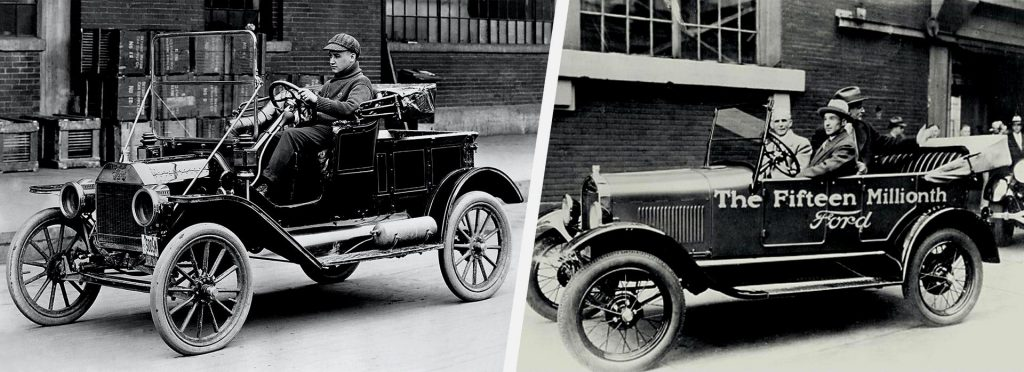 Первый фейслифтинг или рестайлинг был произведен на модели Ford Model T