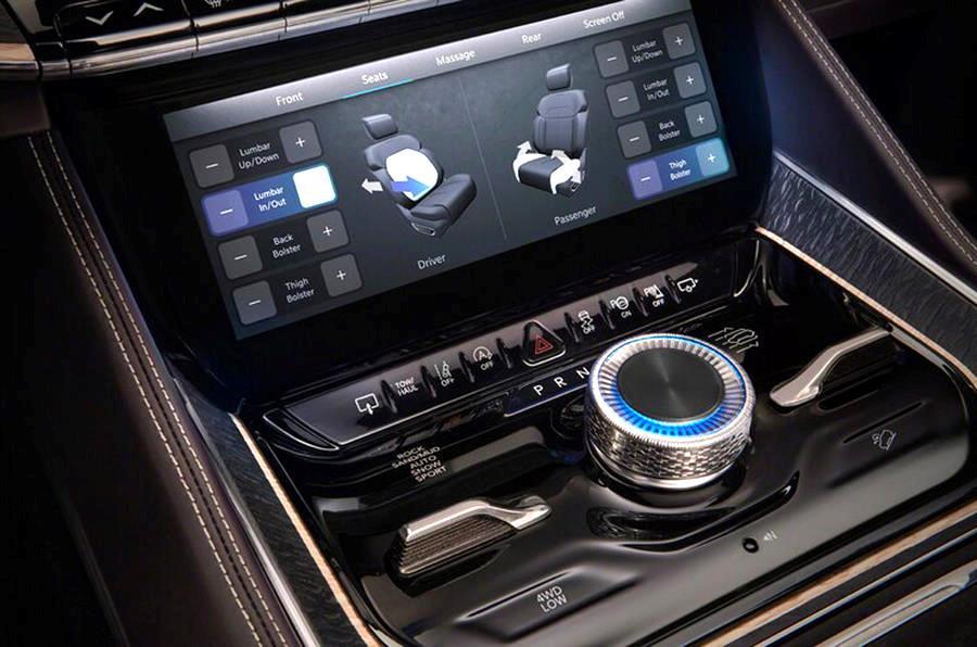 Jeep Grand Wagoneer не только автомобиль премиум класса но и имеет на борту новейшее электронное оборудование