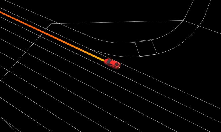 Пример изображения HD карты, созданной DeepRoute Engine