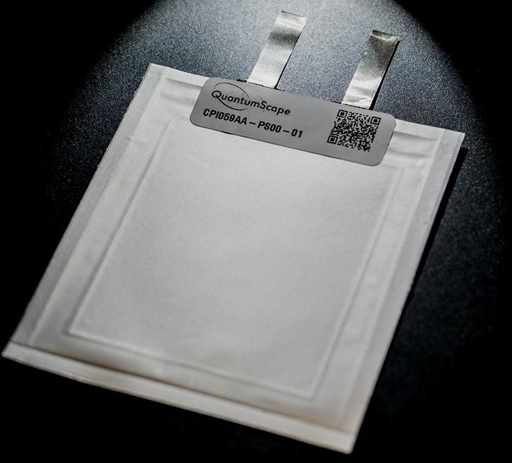 Показан однослойный твердотельный литий-металлический аккумулятор QuantumScape