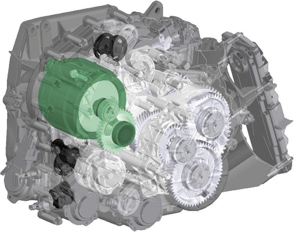 Гибридная трансмиссия Getrag с двойным сцеплением 7HDT300 интеграция с электрической машиной